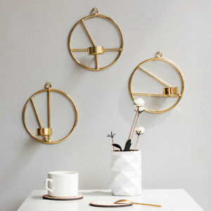 Gold-Nordic-Style-Geometric-Candlestick-Metal-Wall-Candle-Holder-Home-Wall-Decor