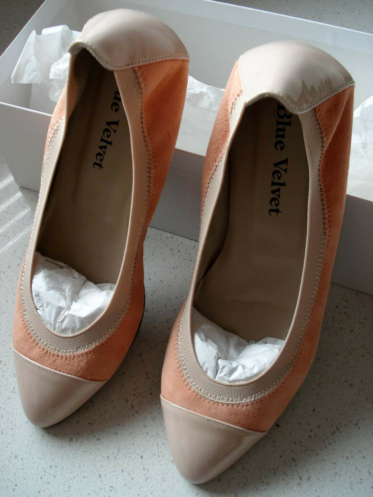 Blue Velvet Pump Peach / Size EU 36.5 / Peach Pump / NEW f87df2