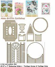 Anna Griffin Cuttlebug  Treillage  Cutting & embossing  Dies & Folders Set 8 pcs