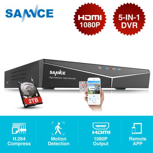 SANNCE 8CH 1080N 5-IN-1 DVR Überwachungskamera Nachtsicht Motion Email Alarm APP