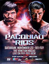 MANNY PACQUIAO vs. BRANDON RIOS / Original HBO/TOP RANK PPV Boxing Fight Poster