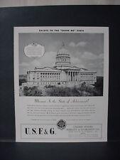 1946 U.S. Fidelity Jefferson City Missouri State Capitol Vintage Print Ad 10999