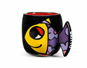 ROMERO BRITTO DEEPLY IN LOVE (FISH) BATHROOM CUP DISCONTINUED  *** NEW **