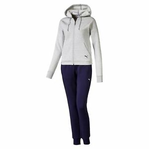 Details about Puma Womens Classic HD. Sweat Suit CLTracksuit DryCell 580492 Grey Blue show original title