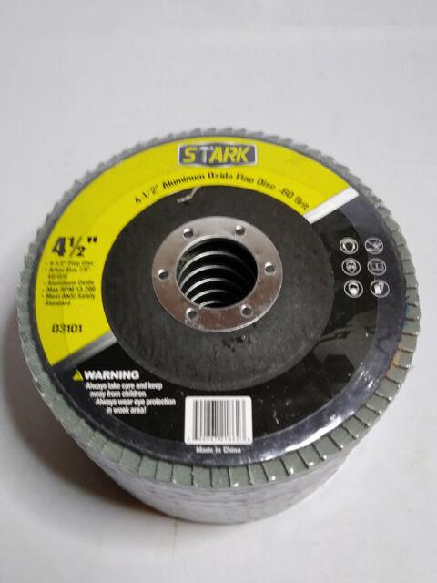 "10pc 180 Grit Flap Sanding Grinding Disc 4 1//2/"" x 7//8/"" Aluminum Oxide A//O NEW"