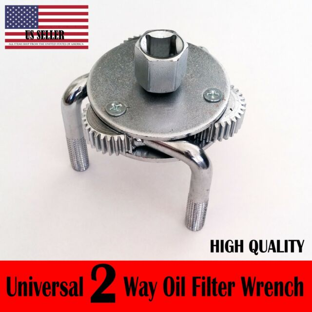 69-130mm Adjustable Three-Claw Filter Wrench Two Way Oil Filter Wrench for Cars