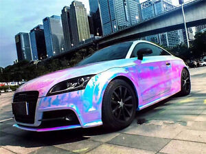 Image Is Loading Holographic White Backing Rainbow Neo Chrome Car Vinyl
