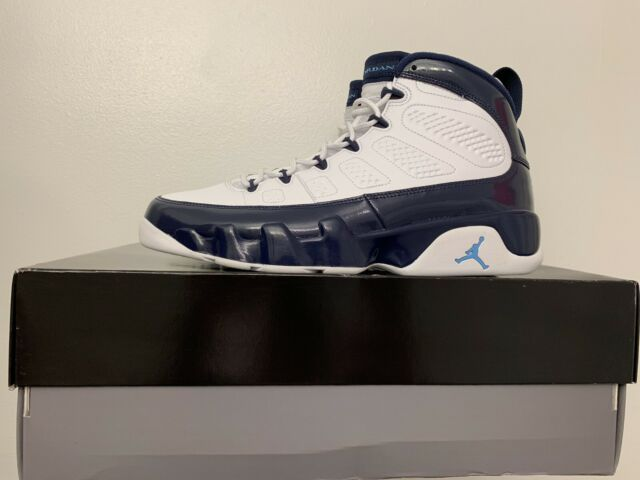 74d6271b8197d Nike Air Jordan 9 Retro White Midnight Navy University Blue Men's US Size  9.5