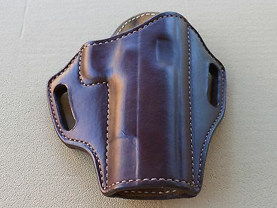 """1911 with 5/"""" Barrel CUSTOM HANDMADE LEATHER HOLSTER OWB Natural"""