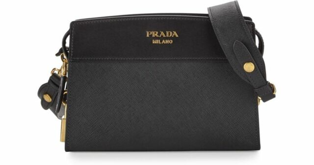 50abee1a3 100% AUTH NEW PRADA ESPLANADE SAFFIANO BLACK CROSSBODY HANDBAG/PURSE/BAG