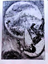 Marc Chagall offset lithograph Bible  paris maeght 1960 original  2 sided 130