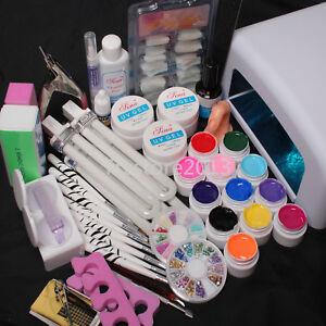 nail art uv gel 36w cure drying lamp false tips top coat
