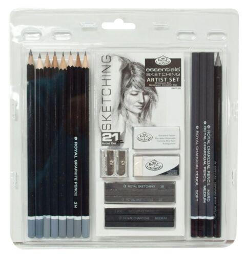 Royal /& Langnickel 21 Pc Sketching Art Pencil Charcoal Graphite /& Accessory Set