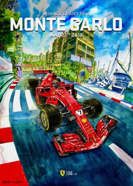 1956 Monaco XIV Car Race Grand Prix Automobile Vintage Poster Repro FREE S//H
