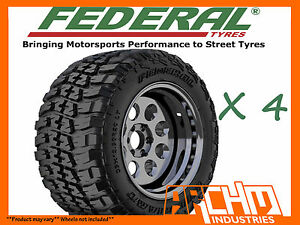 4X-33-12-5-15-FEDERAL-COURAGIA-4WD-MUD-TYRES-M-T-AWESOME-OFFROAD-CHUNKY