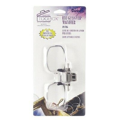 Getrouw Eye Glass Clip On Magnifier With Protective Case Needlework Crafts Sewing