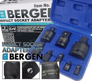 "Impact Impacted Socket Adapter Adaptor Step Up Reducers 1//4/"" 3//4/"" Drive 8pc"