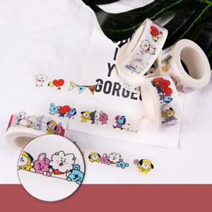 Kpop Bts Washi Tape Paper Maksing Cute Diy Scrapbook Stickers Rj