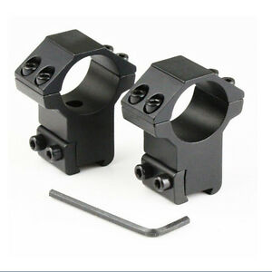 2X-Hot-1-034-High-Profile-Rifle-Scope-Rings-25-4x11mm-Dovetail-Rail-Mount-PR