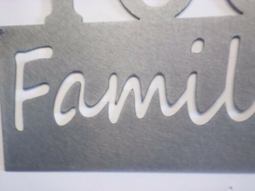 Families are forever,Personalized Name,year and finish color Metal art sign,gift