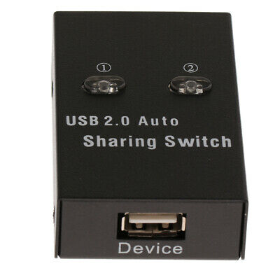 USB 2.0 Sharing Manual Switch KVM Adapter Box 2Ports Hub for Printer Scanner