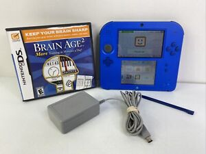 NINTENDO 2DS FTR-001 Blue Console Handheld System Bundle With Game Charger
