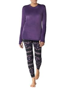 a1cd336512a0d3 Image is loading ClimateRight-Cuddl-Duds-Set-Womens-Stretch-Luxe-Velour-