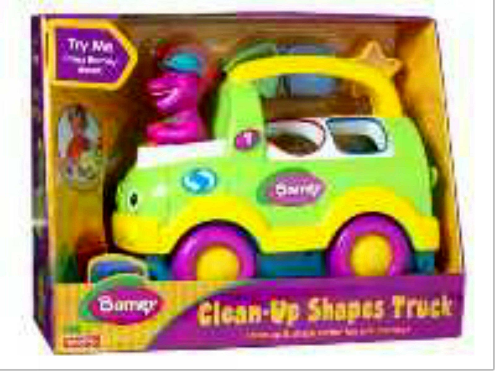 Barney Clean-up Shapes 10  Truck Electronic Talking New Fisher-Price 1992