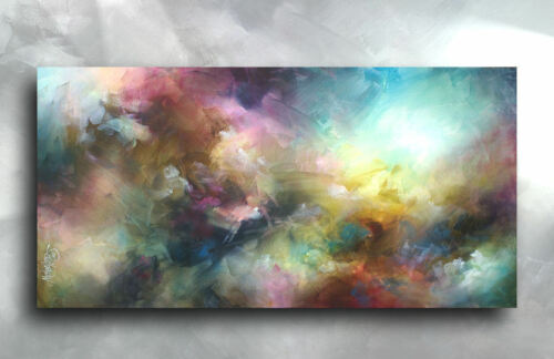 Abstract Art Modern CONTEMPORARY Giclee Canvas Print of a Mix Lang Painting