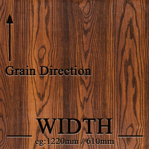Kitchen DIY Self Adhesive Grain Texture Film Sticker Decal WOOD VINYL WRAP