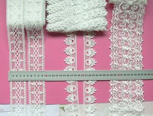 GUIPURE-Edge-amp-Insert-Lace-OFF-WHITE-35-95mm-Wide-2-5-Metres-3-Style-Choice-LL1