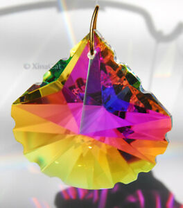 Scallop-Spade-50mm-Austrian-Crystal-Clear-AB-Prism-SunCatcher-2-inches