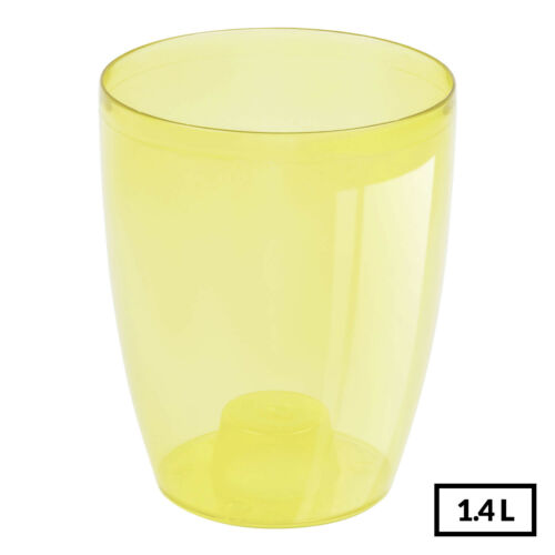 YELLOW Quality Transparent Orchid Pot Home Office Flower Pot 13cm-Good Aeration