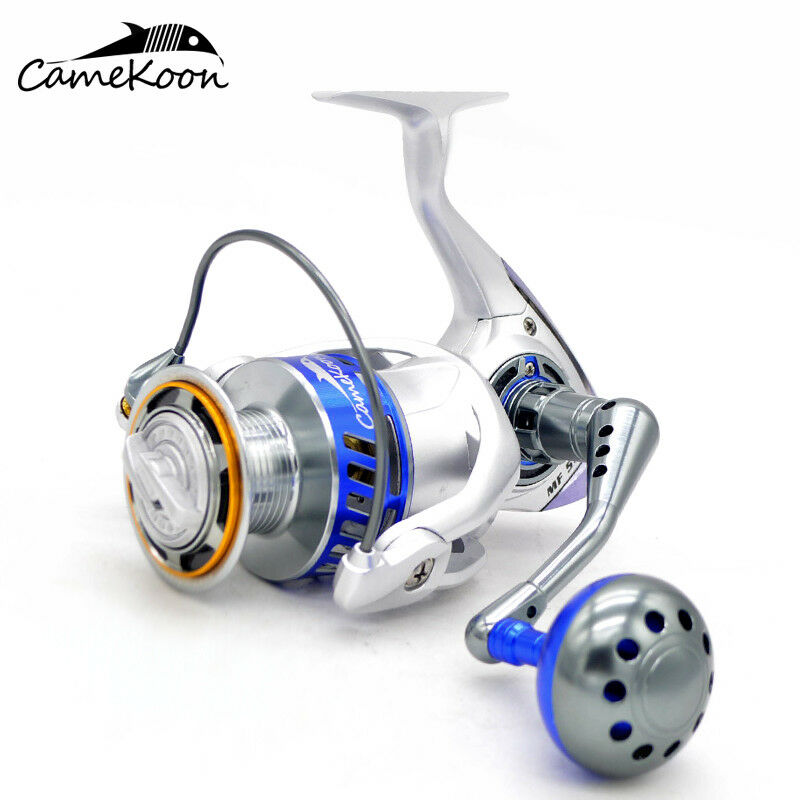 CAMEKOON MF5500 tutti Metal 121orsoings Smoothest Saltwater Spinning pesca Reel
