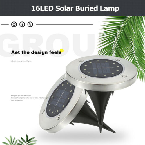 4PCS Solar Powered LED Fence Wall Lights Garden Lamp Step Path Decking Outdoor