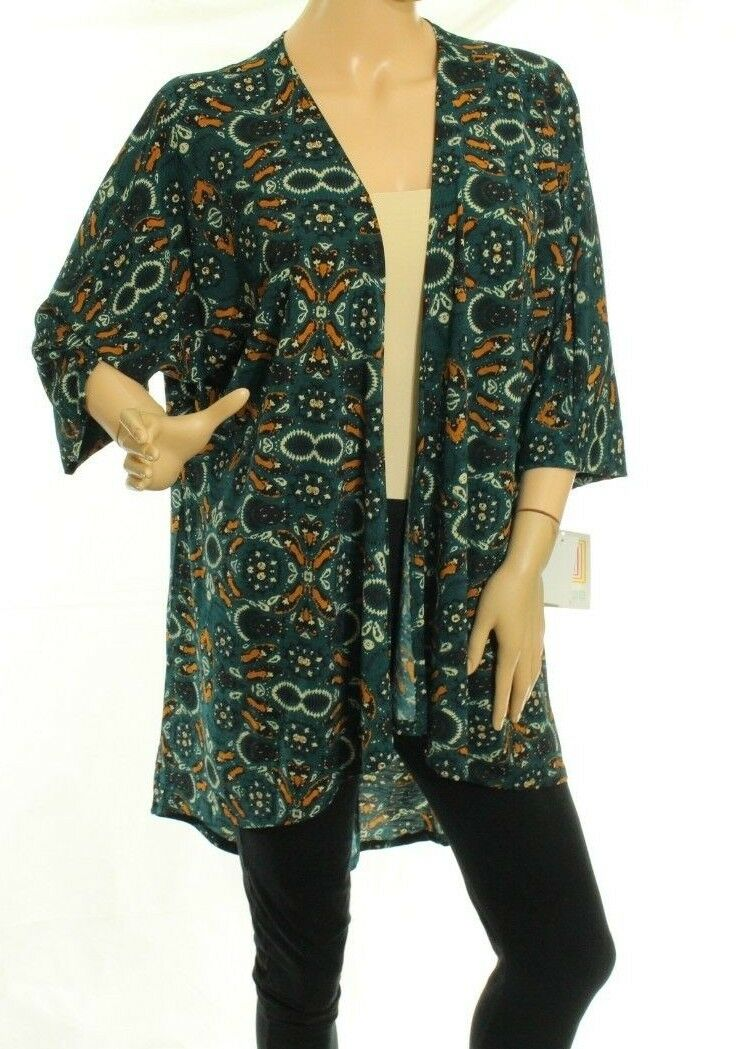 c46786339b112 Lindsay With shoes Print Kimono Size S LulaRoe Green qqiaen8108-Tops &  Shirts