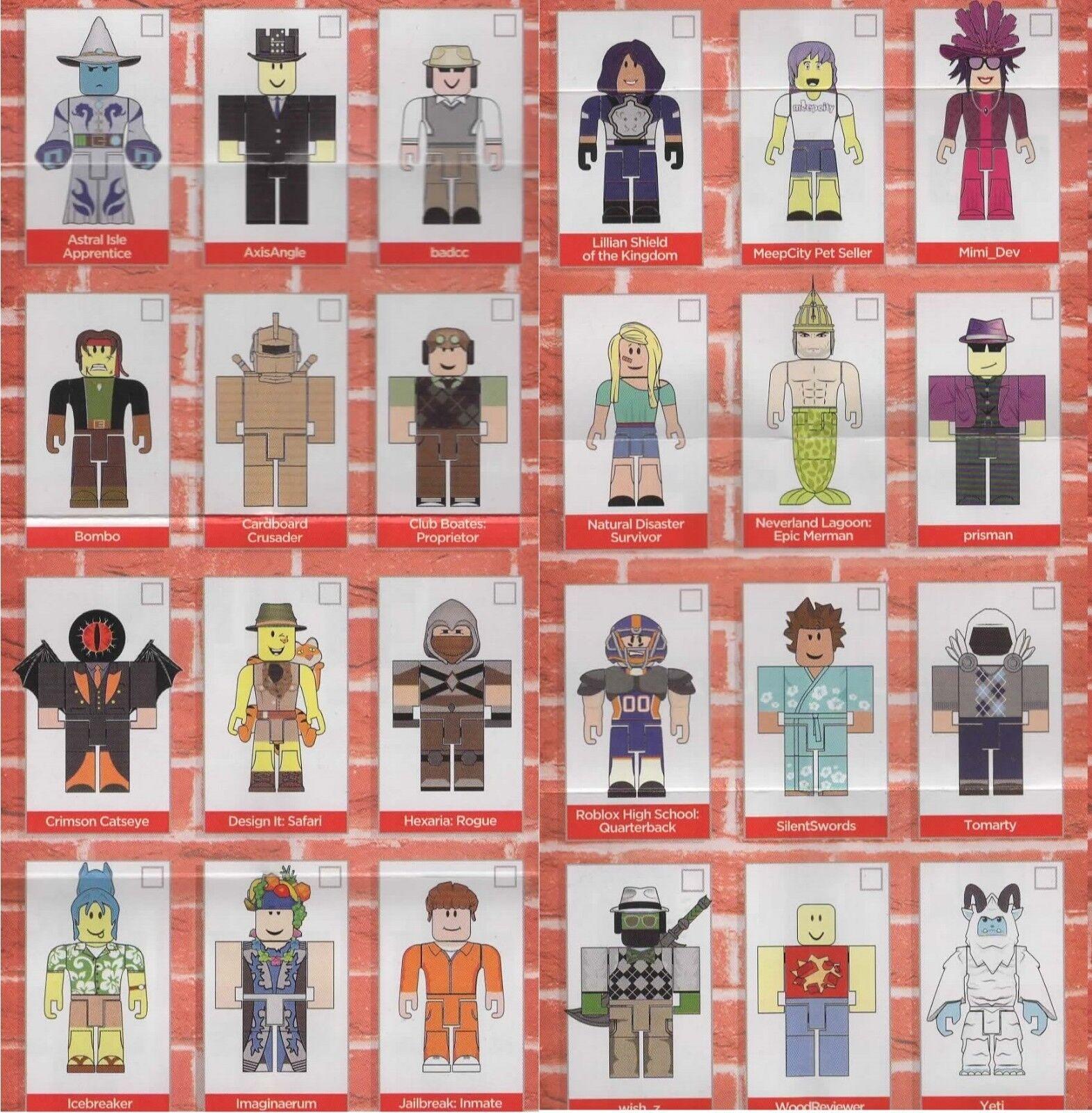 Roblox Series 4 - Roblox Red Brick Series 4 Action Figures Unused Codes