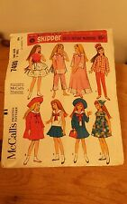 Vintage 1964 Skipper Doll Clothes Pattern Dolls  McCall's Sewing Pattern 7480