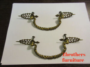 2-Regency-Braided-Rope-Brass-Hardware-Drawer-pull-Handles-Dresser-filigree-A
