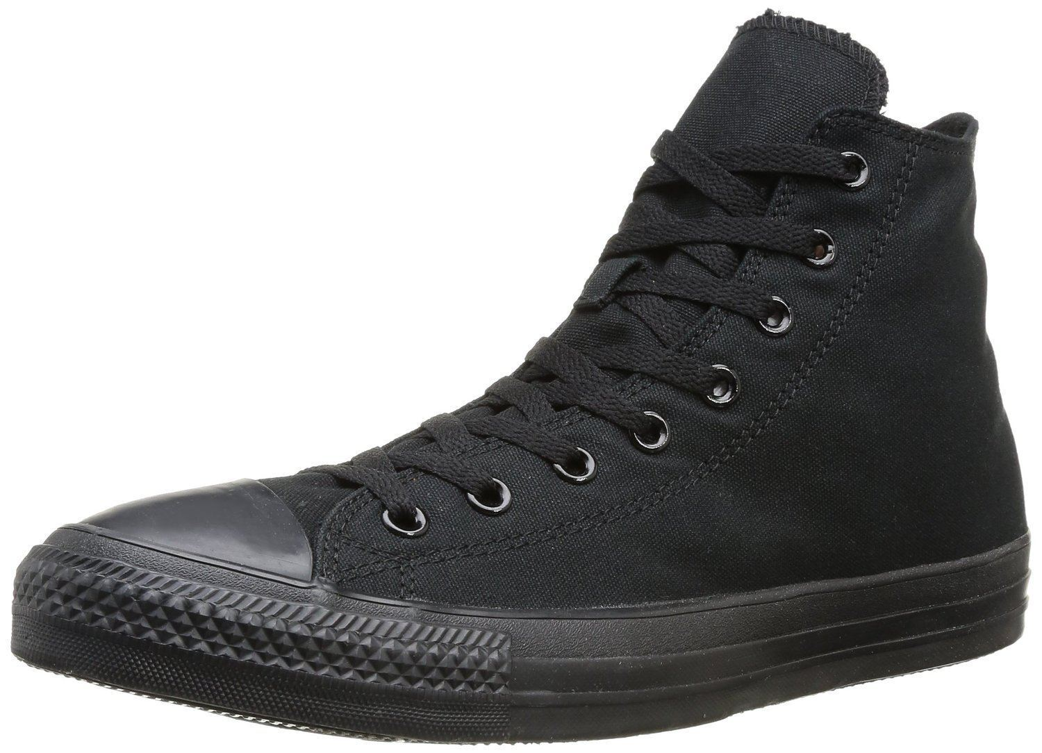 Converse Chuck Taylor All Star Black Mono Hi Unisex Trainers Boots