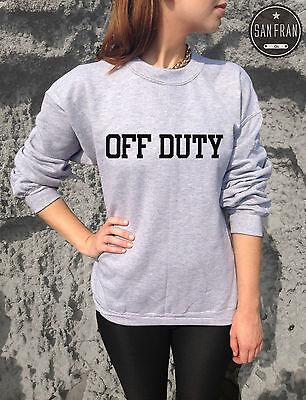 * OFF DUTY Jumper Sweater Top Sweatshirt Tumblr Blogger Homies Swag Fashion *