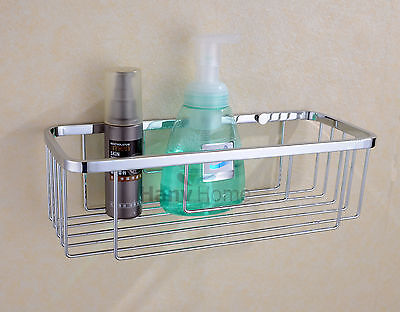 New Bathroom Accessories Stainless Steel Shower Single Wire Basket Shelves