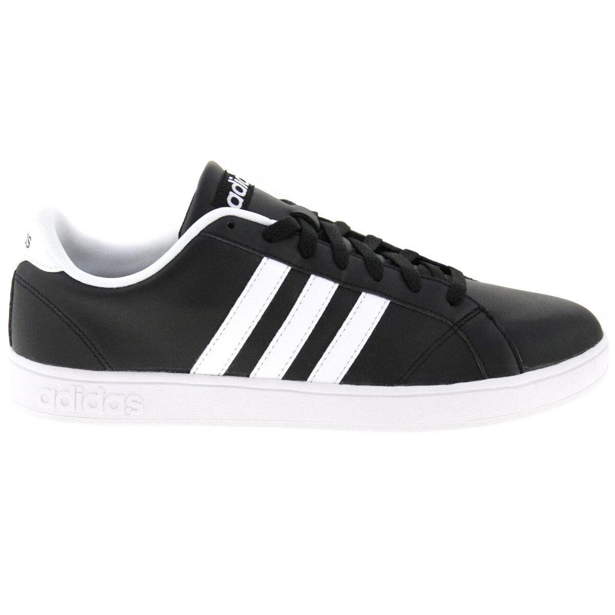 Adidas Herren Turnschuhe Turnschuhe Turnschuhe Baseline Low Schwarz Leder Schuhe Turnschuhe AW4617 NEU  | Sale  ac1d48