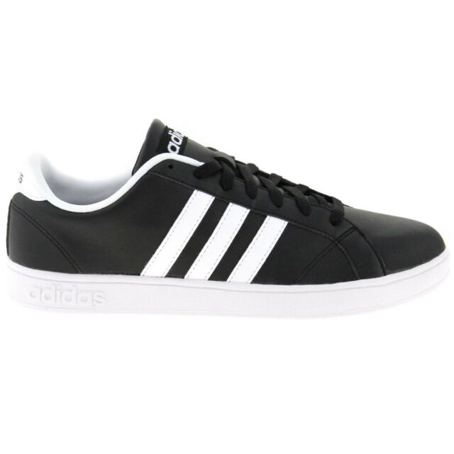 fdd4501ff090 Adidas Men s Sneakers Baseline Low Black Leather Shoes Sneakers Aw4617 New