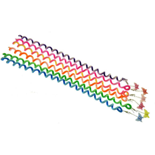 Hair Spiral Wraps Spiral Hair Twister Wrap With Colour Butterfly /& Crystal Bead