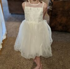 6c92b7f3a62 David s Bridal Corded Lace with Tulle Skirt Flower Girl Dress Style OP228  Size 7