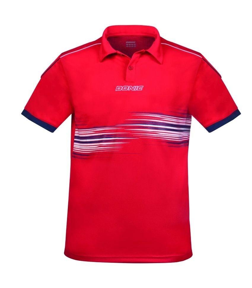 Donic Polo Shirt Race rot   Badminton Badminton Badminton Tischtennis Polo cd873a