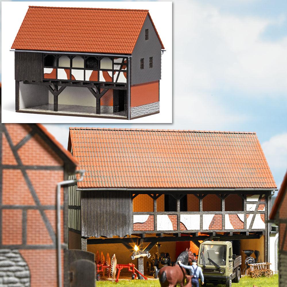 Busch 1511 Farm nebengebäute shelter frame building kit ho new