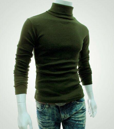 Men/'s Winter Warm Cotton High Neck Pullover Jumper Sweater Tops Turtleneck NEW