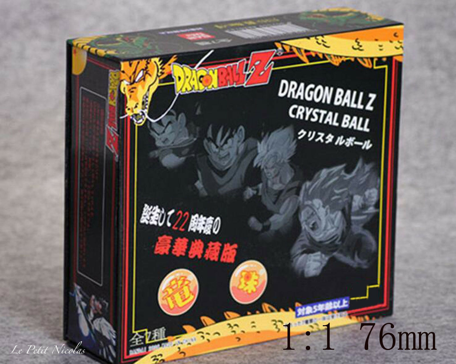 Dragon Ball Z DBZ lote de siete DRAGON bolas muy grandes 1 1 diámetro 76mm bolas
